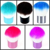 Wholesale Kabuki Blusher Brush Face Powder - Wholesale - 5pcs lot, Professional Kabuki Blusher Brush Face Powder makeup brushes Set Cosmetic Kit Tool free shipping