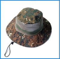 Wholesale Nepal Hats - Cotton Twill Chin Cord Outdoor Cap climbing fishing Bucket Hat Ben Nepal Hat jungle camping sunscreen ouc0031 DHL