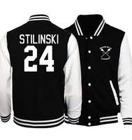 Wholesale Branded Tv Show - funny TV Show Teen Wolf Stilinski sweatshirt 2017 spring fall men fashion baseball jackets women fitness brand unisex tracksuits