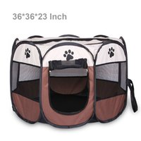 "Wholesale Pet Beds For Puppies - Pet 36"" Playpen for Small Medium Large Dog Cats Bunny Cage Easily Sets Up and Fold Down Portable Dog Cat Puppy Playpens Furthest Save Space"