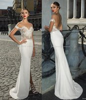 Wholesale Sweetheart Wedding Silk Column Gown - split sexy sheath wedding dresses 2017 julie vino bridal off the shoulder sweetheart neckline heavily embellished bodice wedding gowns
