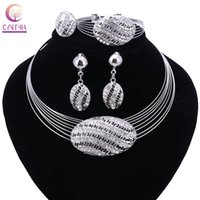 Wholesale Earing Vintage - New Multilayer Maxi Necklace&Pendant Metal Vintage Chokers Egg Shape Collar Statement Women Collier Earing Ring Bracelet
