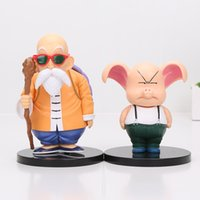 Wholesale Figure Painting Models - 11-15cm Dragon Ball Master Roshi Action Figure 1 8 scale painted figure Oolong Doll PVC Action Figure Collectible Model Toy