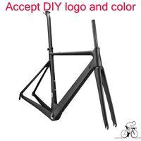 2017 best sale road bike carbon frame T1100 1k 3k black red bicycle frameset bicycle frame DIY paint frameset free shipping