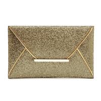 Wholesale Cocktail Evening Bags - Wholesale-2016 Fashion Women's Sequins Envelope Clutch Bag Evening Party Bag Acrilico Cocktail Prom Bag Purse Messager Clutches de Luxo