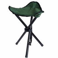 Atacado- Portable Outdoor Camping Tripod Folding Stool Foldable Three-legged Ultralight Chairs Fishing Hiking Picnic Chair 3 cores