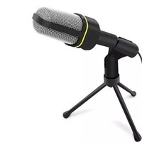 Wholesale Computer Internet Wires - SF-920 3.5mm Stereo Wired Studio Capacitive Plug and Play Microphone For Computer Chatting Over QQ MSN Skype Singing Over Internet