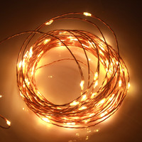 33FT 10M / 100LEDs 5V USB impermeabile LED String Filo di rame String Light Fairy Lights per la decorazione di interni di nozze per esterni