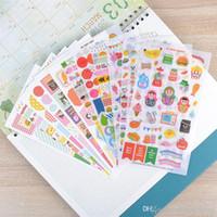 Wholesale gift sets decals resale online - 12pcs set photo album Scrapbook Cute cartoon transparent decorative stickers DIY Handmade Gift Card Scrapbooking