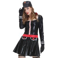 Wholesale Ladies Sex Dresses - Ladies Lingerie Navy sailors Clothing Sets Female Soldier Uniforms Erotic RolePlay Apparel Female Sex Party Dress Stage Costumes