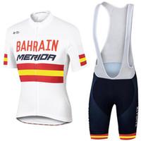Wholesale Merida Road Bike Clothing - 2017 Men pro team cycling clothes BAHRAIN MERIDA summer cycling jersey road bike shirts bib pants set breathable Ropa Ciclismo J1501