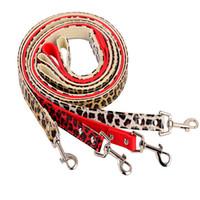 Wholesale Leopard Print Fashion Dogs - Cheap PU Pet Leash With Colorful Leopard Print Small Large Pets Plain Dog Lead Rope Fashion Dog Training Leash 4 Color Mix Order 20PCS LOT