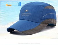 Wholesale Quick Shade - Summer quick-drying man han edition outdoor shade is prevented bask in large eaves baseball hat breathable mesh cap cap wholesale 8