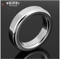 Wholesale Sex Fun Toys - Stainless steel Penis Ring Penis Sleeve sex toys Cock Ring delay fun male sperm Cocking ring male chastity device for Adult game C947
