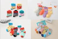 Wholesale Sweat Winter Children - 2017 cartoon breathable children socks,sweat bear  Strawberry head baby floor socks,spring autumn kids cotton socks shoes.40pairs 80pcs.XM