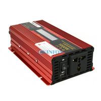 wechselrichter lcd großhandel-DHL 5 STÜCKE 1000 Watt DC 12 V zu AC 220 V Auto Wechselrichter LCD Display Solar Inverter Converter Modifizierte Sinus Adapter