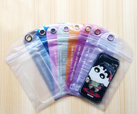 Wholesale brand pvc case resale online - Retail Package Poly Zipper Waterproof PVC Packing Hang Bag For mobile phone smart phone for htc sony Soft Hard Case Pouch
