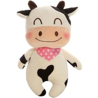 Wholesale Stuffed Toy Cows - Cow Stuffed Doll Soft Toy Plush Animals Cute Pink Rabbit Toys Oyuncak Bebek Bear Brown Pelucia Animais Toys For Children 50G0423