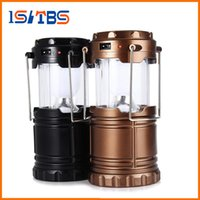 Wholesale Wholesale Street Lanterns - 2017 New Portable Outdoor LED Camping Lantern Solar Collapsible Light Outdoor Camping Hiking Super Bright Light