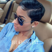 Wholesale Lace Front Wigs Chinese Bangs - Peruvian Glueless Human Full Lace Human Cut Hair Wigs With Bangs Virgin Short Hair Lace Front Wig For Black Women