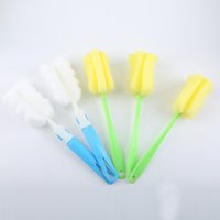 Wholesale Plastic Bottles Wholesale Kitchen - 2017 thick plastic does not hurt the hand strong decontamination brush cup brush sponge cleaning bottle brush