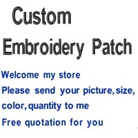 Wholesale Cheapest Wholesale Patches - Free Shipping Cheapest Custom Patches Designs Embroidery Patches Any Size Any Logo Quality Embroidered Patches Supplier Wholesale