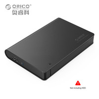 Wholesale Orico Hard Drive Enclosure - Wholesale- ORICO 2598S3-BK Aluminium USB3.0 2.5 SATA3.0 HDD Enclosure Support 9.5mm&12.5mm Hard Drive (Not including HDD)
