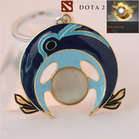 Wholesale Key Chains For Cars - New Arrival DOTA2 Luna ti5 Luna Moonfang Immortal Shield Keychain Alloy Key Chain For Car Bags Accessory Size 5*5cm