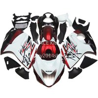 Wholesale 5 free gifts New ABS motorcycle Fairing Kits Fit For SUZUKI GSXR1300 Hayabusa good nice white red and black Article no