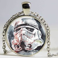 Wholesale Storm Necklace - New Storm Trooper Necklace Pendant Jewelry man Choker Statement Silver Necklace Art Glass Necklace