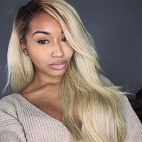 blonde hair pics - Ombre Lace inch Pic Glueless Lace Wigs Synthetic Hair Lace Front Wig For Black Women b Blonde