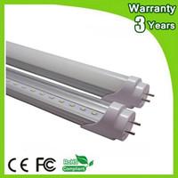 Wholesale Daylight Fluorescent Lamp Tube - (50PCS Lot) 85-265V 3 Years Warranty CE RoHS G13 4ft 1.2m 20W 1200mm LED Tube T8 LED Bulb Light Fluorescent Lamp Daylight