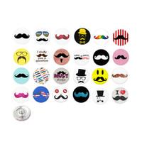 Wholesale wholesale mustache jewelry - Wholesale Free Shipping DIY Jewelry Interchangeable Funny Mustache Beard Buttons for Snap Jewelry Bracelet Jewelry DIY