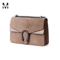 Wholesale autumn winter women s vintage handbags satchel nubuck patchwork napa leather steller s buckle chain shoulder bag tote bags