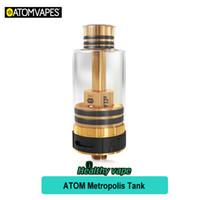 Wholesale Electronic Cigarette Atom - Original Atom Metropolis Atomizer 4ml Vape Tank Electronic Cigarette Vaporizer Vs ATOM VGOD Pro Rll RDTA