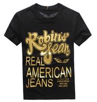 Wholesale Short Jeans Design - 2017 New Tops & Tees fashion design Robin Jeans t-Shirts Men men's Robin T shirt Short Sleeve Shirts Robins Tshirts big size 3XL