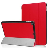 Wholesale Ipad Air Tri Fold Cover - Tri Folding folio Ultra Slim Smart Cover For Apple iPad 2017 9.7 PU Leather Case For iPad air 2 Stand tablet Cases
