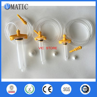 Wholesale Barrel Adapter - Freeshipping Yellow 5cc 10cc 30cc Glue Dispenser Syringe Barrel Syringe Adapter (each size have 2set, totally 6 sets)