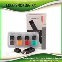 Wholesale Coco Wholesale - COCO SMOKING 220mAh Ultra Portable Vape Pen Starter Kit For JUUL Vapor Pod Cartridge Vaporizer Kits