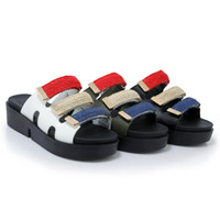 Wholesale Thick Sole Platform Sandals - 2017 new Summer New Woman Slippers Creeper Slide Women Sandals Wedges High Heels Platform Thick Soles Slippers Women Shoes