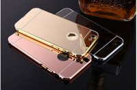 Wholesale Mobile Phone Metal Shell - Iphone6plus mobile phone shell Apple 6s 4.7   5.5 local tyrannical gold luxury drop-resistant metal frame + back cover