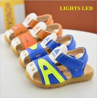 Wholesale Toddlers Shoes Manufacturers - China manufacturer 2017 new brown blue letter kids PU leather toddler sandals beach summer shoes boys baby soft tpr sole skidproof 15-19