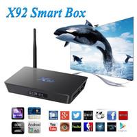 3g skype großhandel-X92 Android 7.1 TV-Box Amlogic S912 2G 3G 16G 32G Octa Core 5G Wifi Set-Top-Box