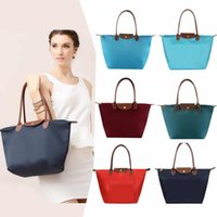 Wholesale Nylon Zipper Bag Cheap - Wholesale Cheap LC Long Handle Shopping Colorful Handbag Women Shoulder Tote Large Capacity Bags Nylon WaterProof