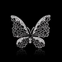 broches de armas al por mayor-Al por mayor- 2015 nuevos llegan Mujeres Accesorios de joyería Broche Vintage arma negro mariposa / libélula animal flor joyería broche de boda
