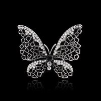 Wholesale Dragonfly Butterfly Jewelry - Wholesale- 2015 new arrive Women Jewelry Accessories Brooch Vintage gun black Butterfly Dragonfly Animal Flower Jewelry brooch pins wedding