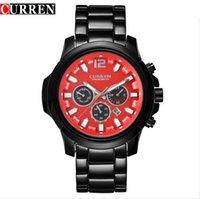 Wholesale Mens Curren Waterproof Watches - Curren 8059 Mens Watches Top Brand Luxury Full Stainless Steel Men's Analog Quartz Watch Men Casual Sport Waterproof Clock Watch