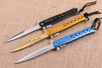 Wholesale walther knives for sale - Walther Pocket Knife Cr13 HRC Blade Steel Aluminum Handle Tactical Hiking Knives Camping Utility Outdoor Gear F878L
