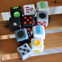 Wholesale Variety Toys Wholesale - 2017 Magic Fidget Cube Decompression Toy variety designs Popular Anxiety Toys Adults Stress Relief Kids Toy With Retail Box 11 colors