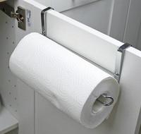 porte-serviettes de toilette achat en gros de-Nouveau Cuisine Papier Titulaire Cintre Tissu Rouleau Serviette Rack Salle De Bains Toilette Évier Porte Suspendue Organisateur De Stockage Crochet Titulaire Rack